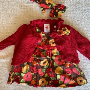 Gymboree Floral Fall/Winter Baby Girl Dress